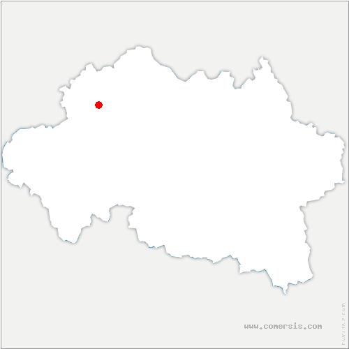 carte de localisation de Brethon
