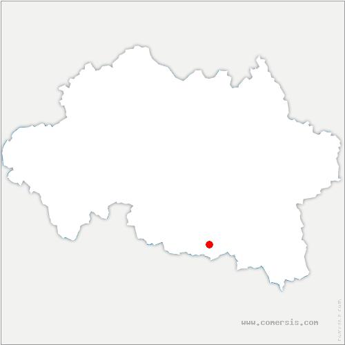 carte de localisation de Cognat-Lyonne