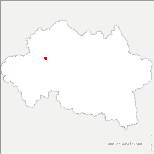 carte de localisation de Cosne-d'Allier