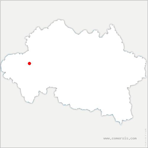carte de localisation de Estivareilles