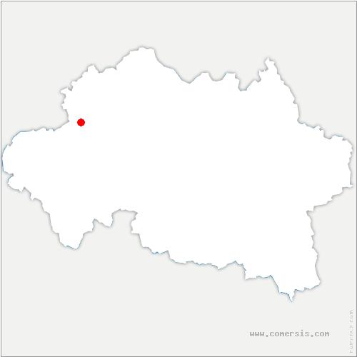 carte de localisation de Hérisson