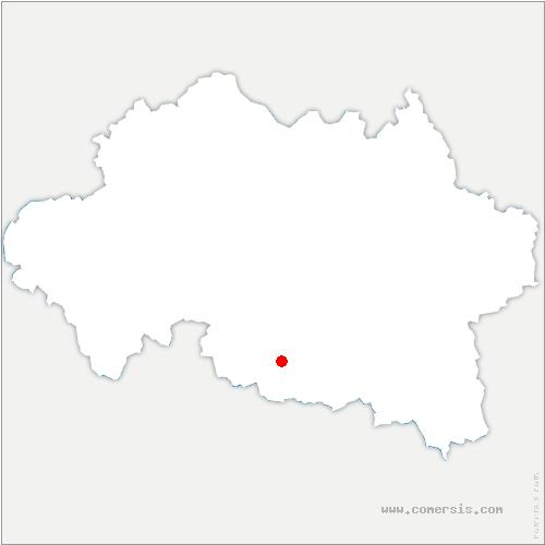 carte de localisation de Jenzat