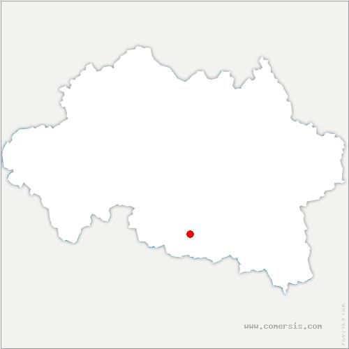 carte de localisation de Mayet-d'École