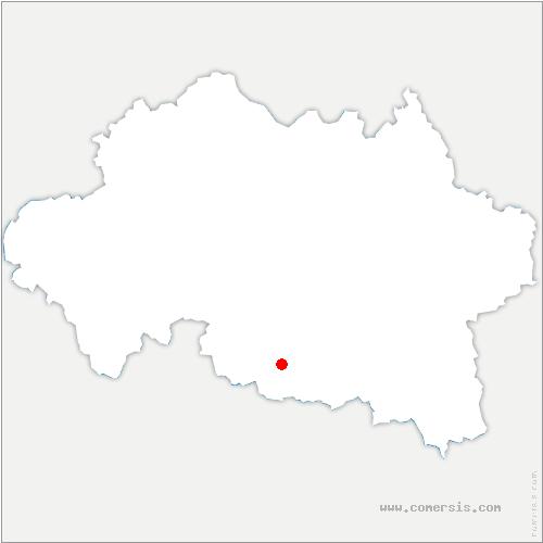 carte de localisation de Mazerier