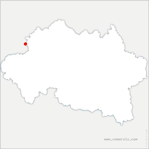 carte de localisation de Meaulne-Vitray