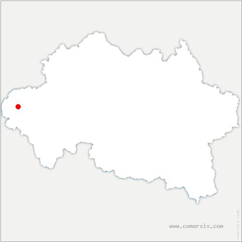 carte de localisation de Mesples