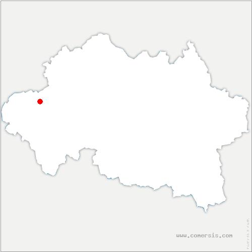 carte de localisation de Nassigny