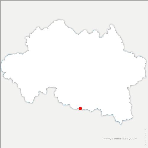 carte de localisation de Poëzat