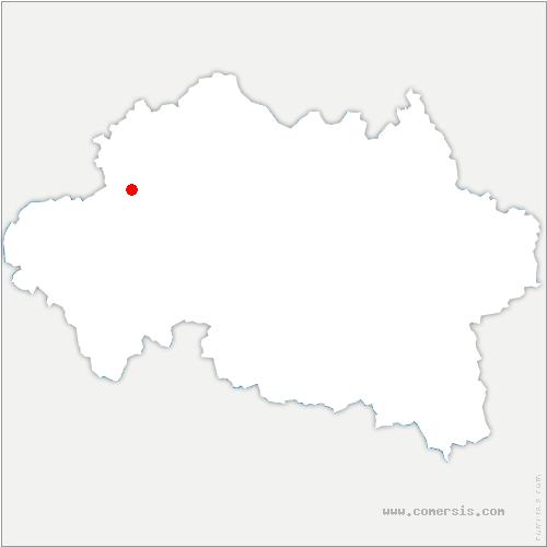 carte de localisation de Saint-Caprais