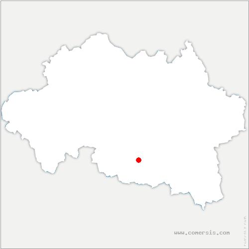 carte de localisation de Saint-Germain-de-Salles