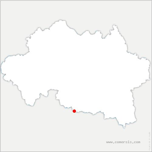 carte de localisation de Saint-Priest-d'Andelot