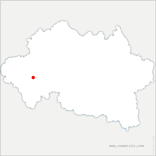 carte de localisation de Saint-Victor