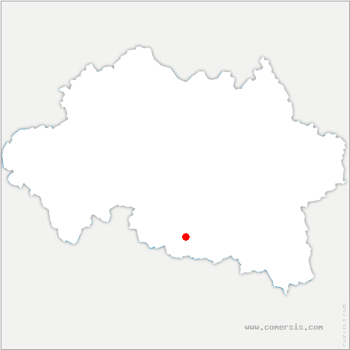 carte de localisation de Saulzet