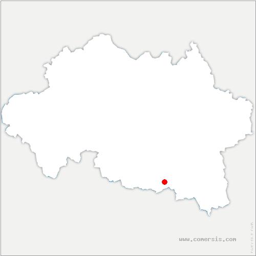 carte de localisation de Serbannes