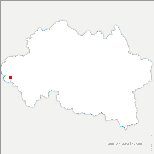 carte de localisation de Treignat