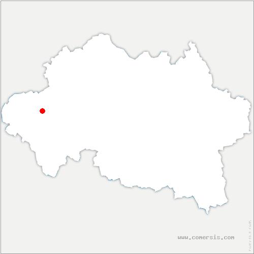 carte de localisation de Vaux
