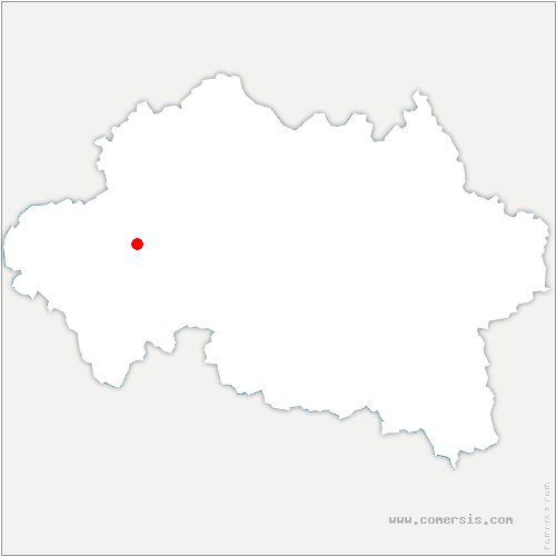 carte de localisation de Verneix