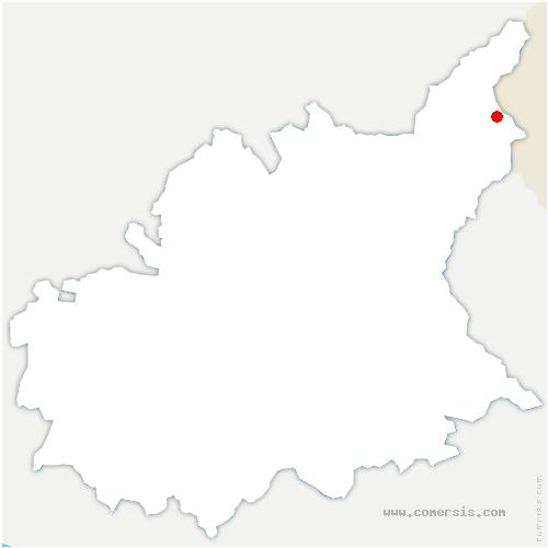 carte de localisation de Val-d'Oronaye