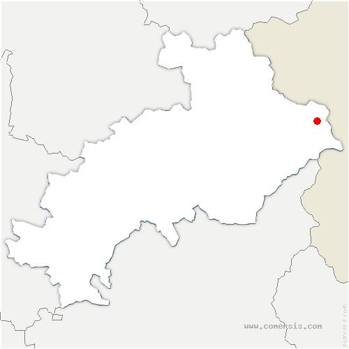 carte de localisation de Abriès-Ristolas