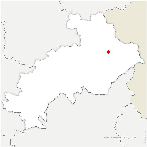 carte de localisation de Arvieux