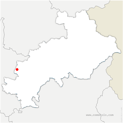 carte de localisation de Haute-Beaume