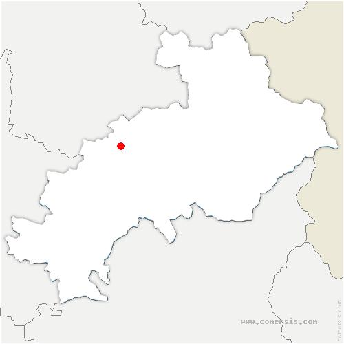 carte de localisation de Noyer