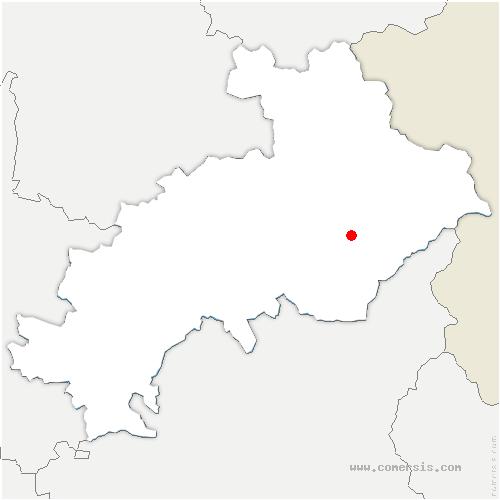 carte de localisation de Risoul
