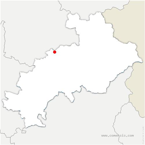 carte de localisation de Saint-Firmin