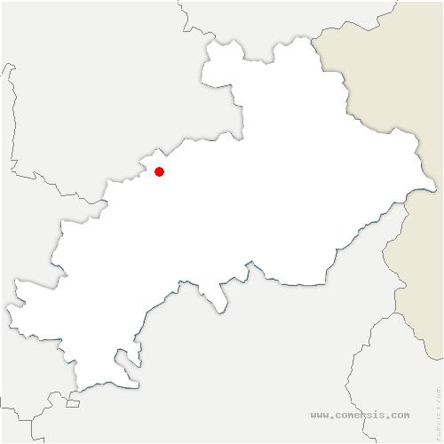 carte de localisation de Saint-Jacques-en-Valgodemard