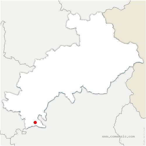 carte de localisation de Val-Buëch-Méouge