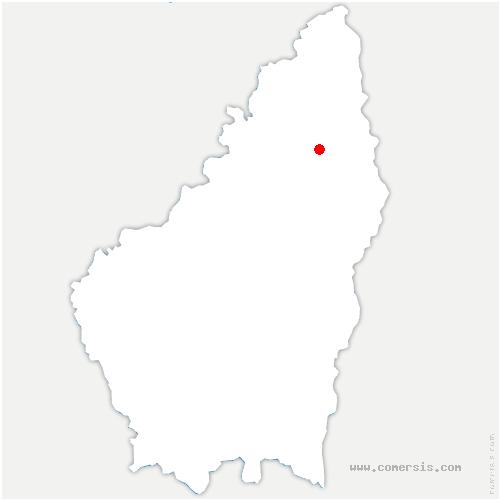 carte de localisation de Arlebosc