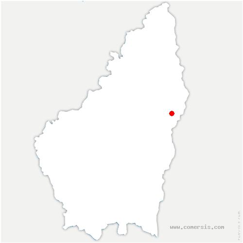 carte de localisation de Beauchastel