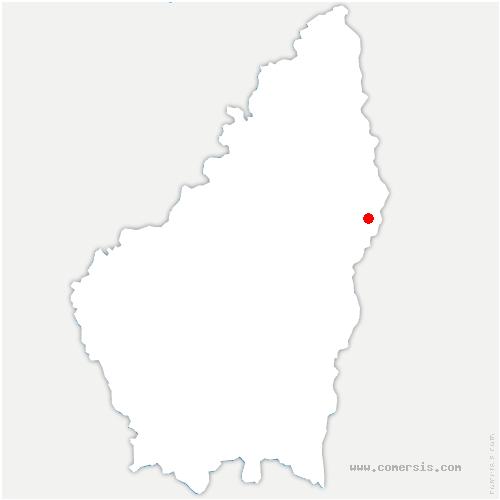 carte de localisation de Charmes-sur-Rhône