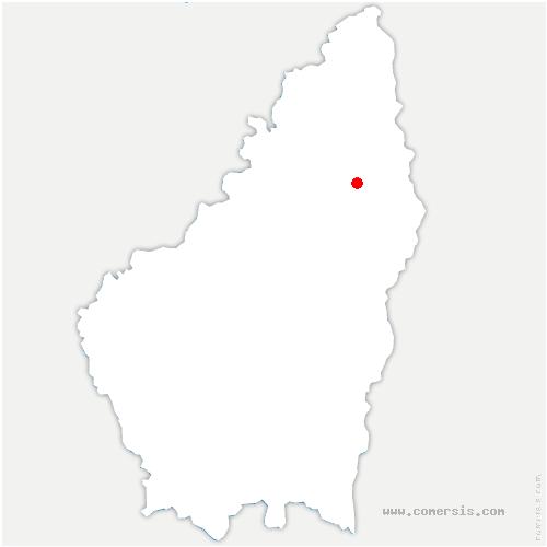 carte de localisation de Colombier-le-Jeune