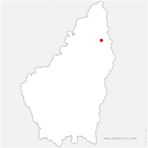 carte de localisation de Colombier-le-Vieux