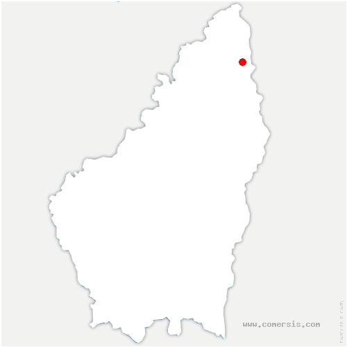carte de localisation de Eclassan