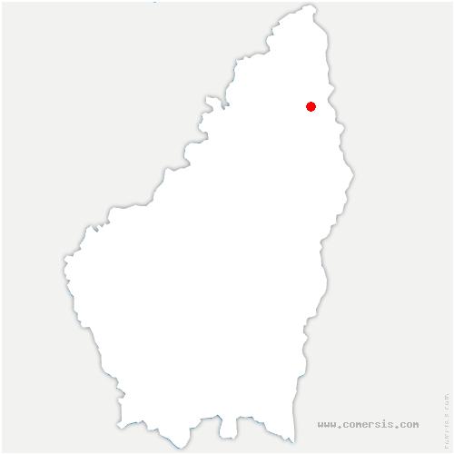 carte de localisation de Étables