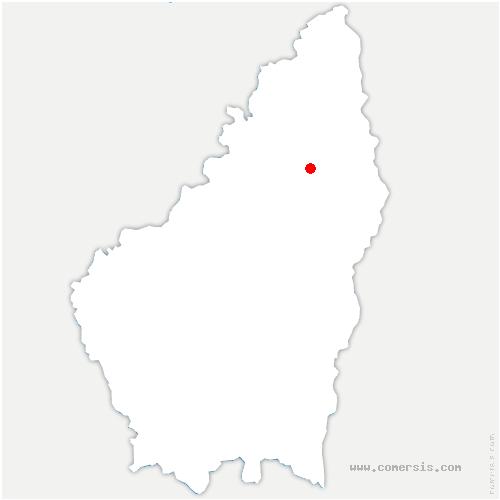 carte de localisation de Gilhoc-sur-Ormèze