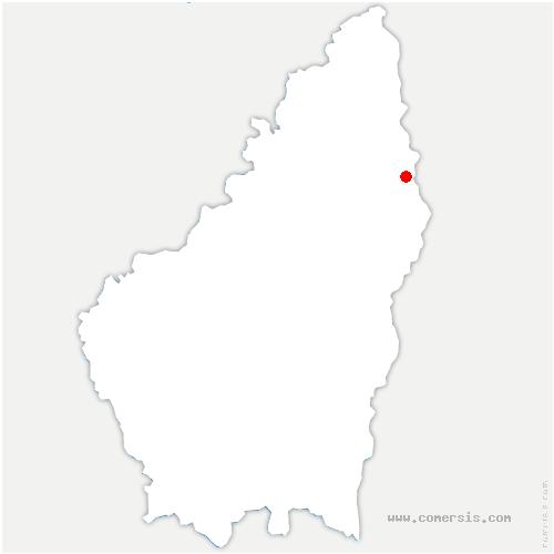 carte de localisation de Glun