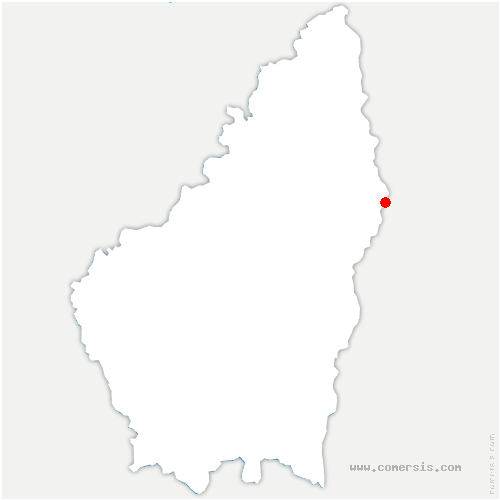 carte de localisation de Guilherand-Granges