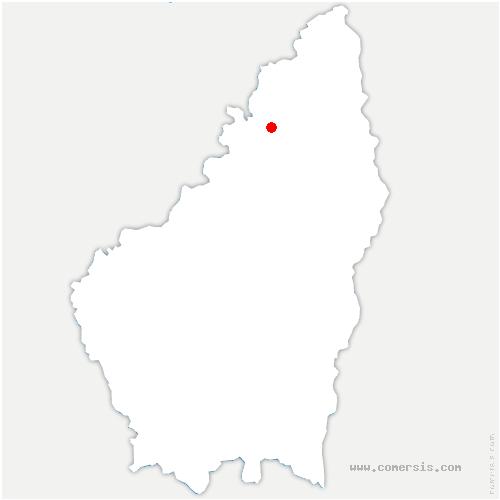 carte de localisation de Lafarre