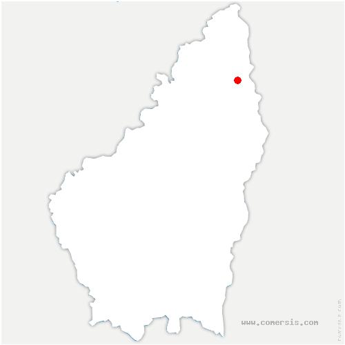 carte de localisation de Lemps