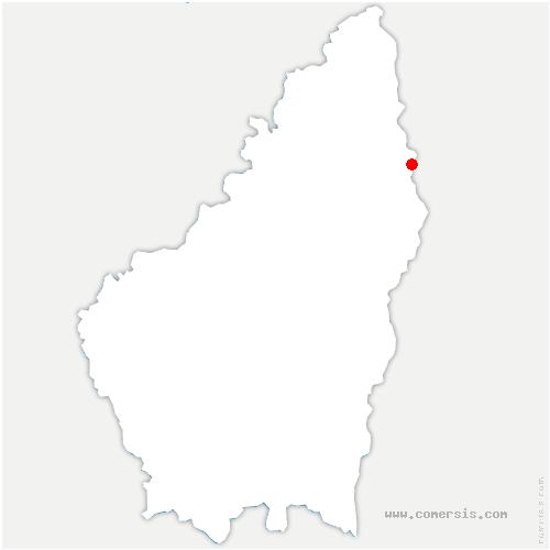 carte de localisation de Mauves
