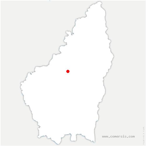 carte de localisation de Mézilhac