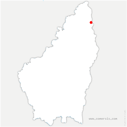 carte de localisation de Ozon