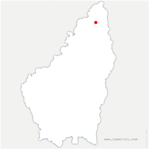 carte de localisation de Quintenas