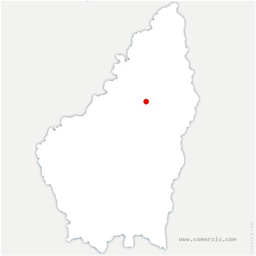 carte de localisation de Saint-Apollinaire-de-Rias