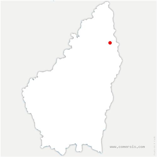 carte de localisation de Saint-Barthélemy-le-Plain