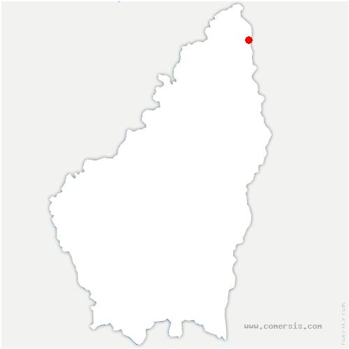 carte de localisation de Saint-Désirat