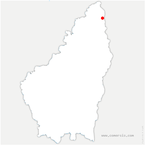 carte de localisation de Saint-Étienne-de-Valoux